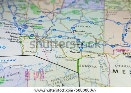 Vinnitsa, Ukraine - January 18 , 2017: US Map #580880869