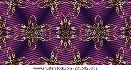 Vinous and gold abstract symmetric background  is computer graphics and can be used in the design of textiles, in the printing industry, in a variety of design projects Foto d'archivio ©