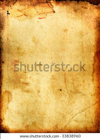 vintage aged background old paper - stock photo