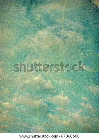 vintage aged photo of cloudy sky