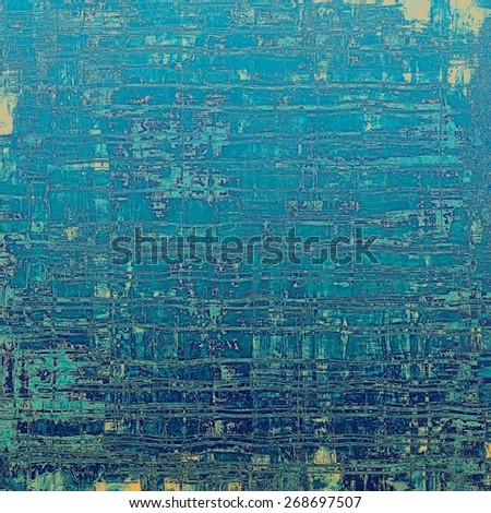 Vintage aged texture, colorful grunge background with space for text or image. With different color patterns: yellow (beige); blue; cyan