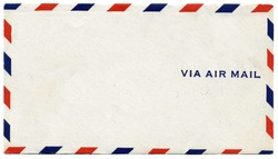 Vintage air mail envelope with text
