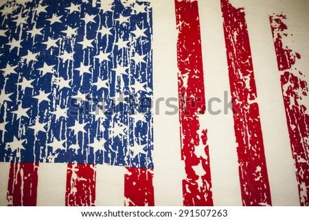 Vintage American flag background.