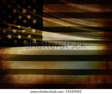 american flag waving in wind. american flag waving in