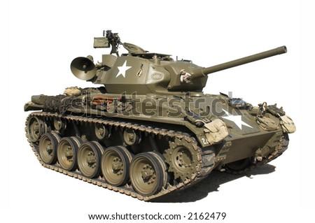 Vintage American M24 Tank - stock photo
