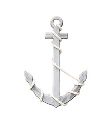 vintage anchor isolate on white background