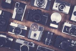 vintage and retro camera set