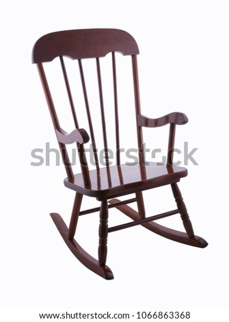 Vintage Antique chair isolated #1066863368