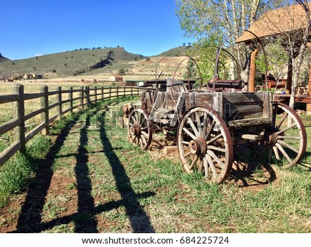 vintage antique covered wagon...