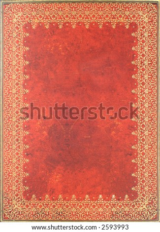 vintage antique grunge book cover used for background or border