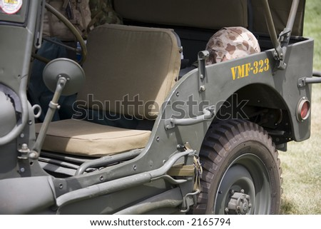 Vintage army vehicle