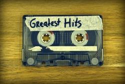 Vintage audio cassette tape with the description: Greatest Hits