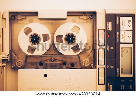 vintage audio tape compact...