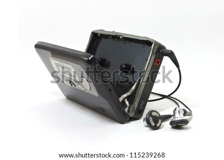 Photo of  Vintage audiotape walkman