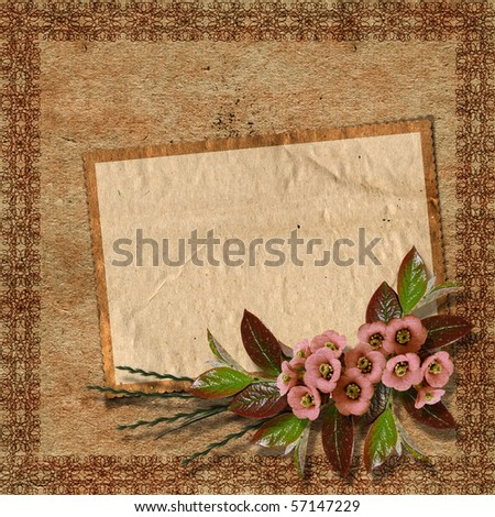 Vintage background for invitation and photo. - stock photo