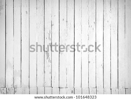 Vintage background from a black and white wooden plank