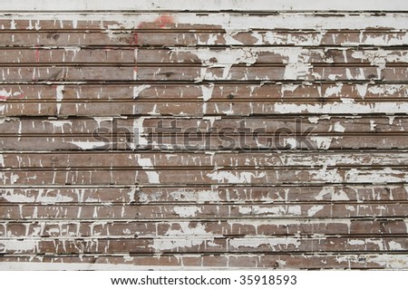 Vintage background from weathered wooden shingle