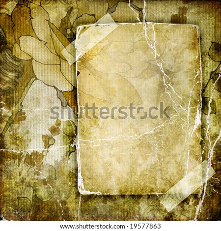 vintage background with blank page