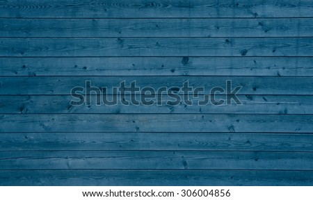 Vintage background with blue old wooden planks