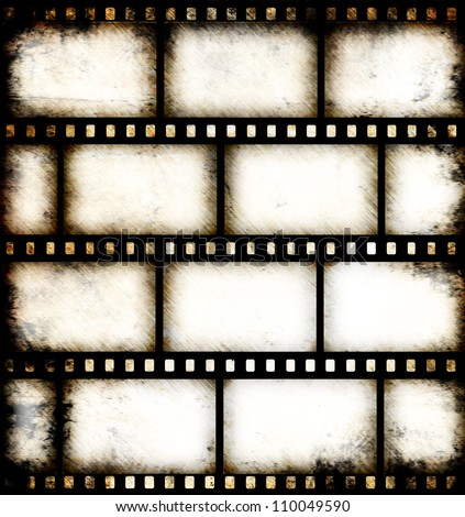 Vintage Background With Film Flame Stock Photo 110049590 ...
