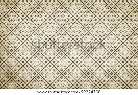 vintage background with floral pattern - stock photo