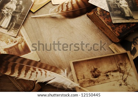 Vintage background with old photographs