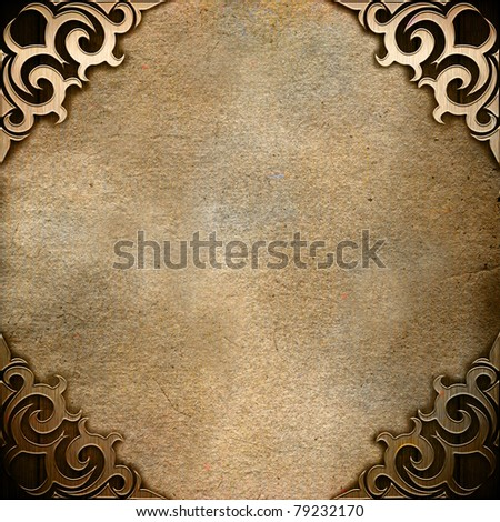 Vintage background with ornamental corner
