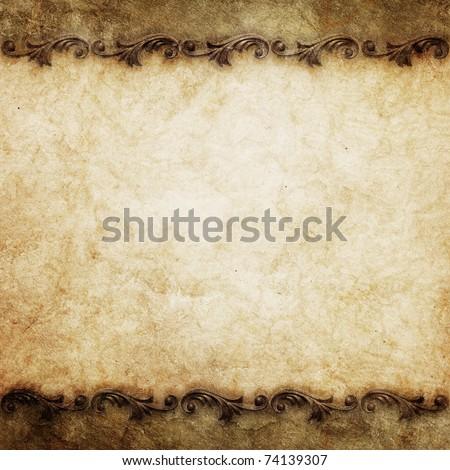 vintage background with ornate frames