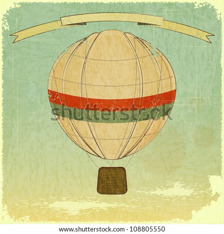 Vintage Balloon Retro card - JPEG version