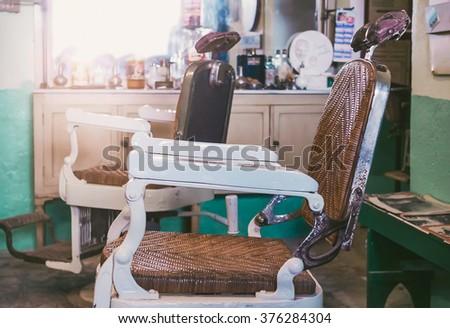 vintage barber's chair  ...