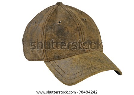 Vintage Baseball Cap isolated on white