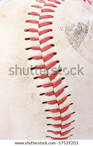 Vintage baseball closeup