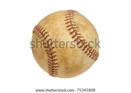 Vintage Baseball Isolated on a White Background