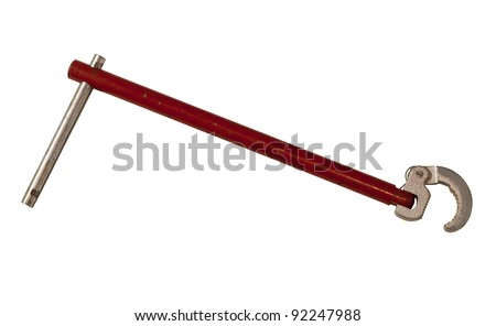 vintage basin wrench with clipping path at original size
