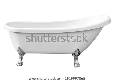 Vintage bathtub isolated on white backgrounds work with clipping path. Stock photo ©