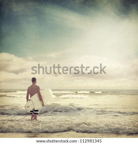 Vintage beach background - stock photo