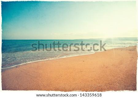 Vintage beach background #143359618