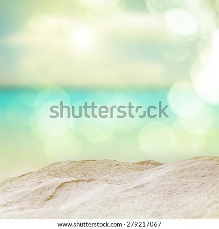 Vintage beach. vintage color filter effect.