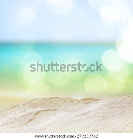 Vintage beach. vintage color filter effect. - Shutterstock ID 279239762