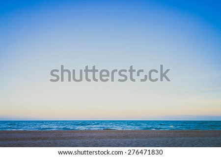 Vintage beach - vintage  dark filter style processing