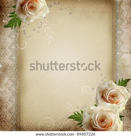 stock photo vintage beautiful wedding background