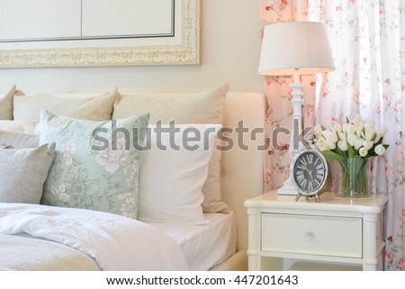 vintage bedroom interior with...