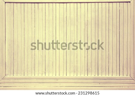 Vintage Beige White Pastel Color Wood Backboard Billboard Background Texture. Instagram style