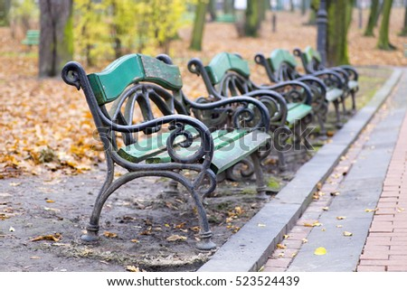 vintage bench in the park....