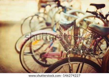 vintage bicycle detail close up ...