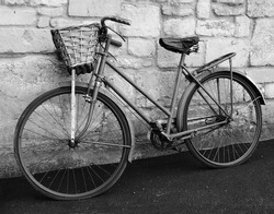 Vintage Bicycle in Black and White