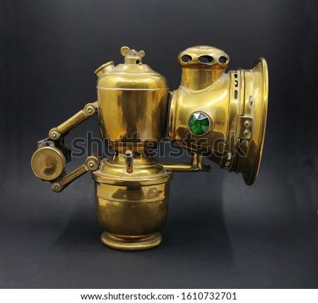 Vintage Bicycle Lamp, Brass Lamp