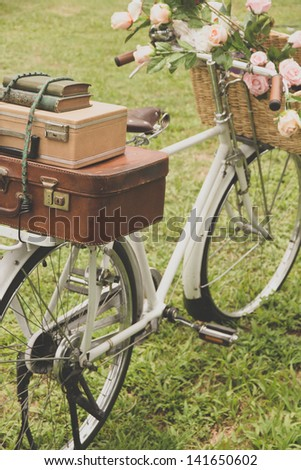 vintage bicycle on the field...
