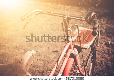 vintage bicycle on vintage...