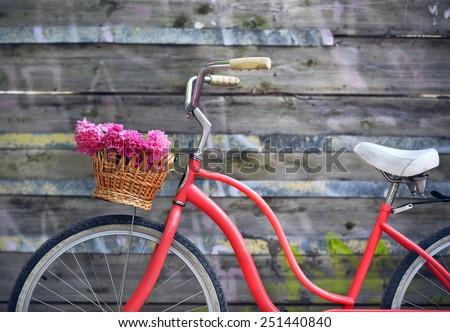 vintage bicycle with basket...
